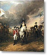 Surrender Of Lord Cornwallis Metal Print by John Trumbull