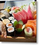 Sushi And Sashimi Metal Print