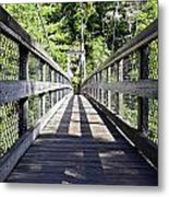 Suspension Bridge Metal Print by Susan Leggett