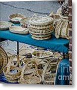 Charleston Sweet Grass Baskets Metal Print