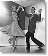 Swing Dancing Couple Metal Print