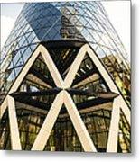 Swiss Re Tower In London Metal Print