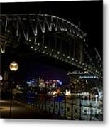 Sydney Harbor Bridge At Night Metal Print
