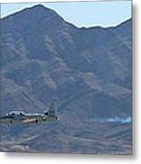 T-33 Shooting Star Flyby Nellis Metal Print