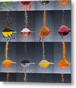 1 Tablespoon Flavor Collage Metal Print by Steve Gadomski