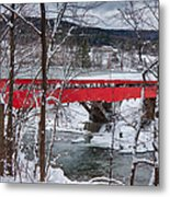 Taftsville Covered Bridge Metal Print