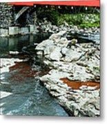 Taftsville Covered Bridge Vermont Metal Print