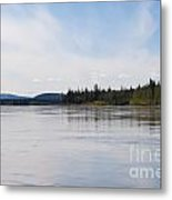 Taiga Hills At Yukon River Near Dawson City Metal Print