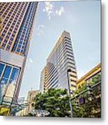 Tall Highrise Buildings In Uptown Charlotte Near Blumenthal Perf Metal Print