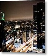Tallinn At Night Metal Print