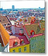 Tallinn From Plaza In Upper Old Town-estonia Metal Print