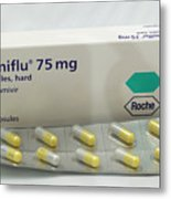 Tamiflu Influenza Drug Capsules Metal Print