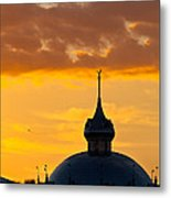Tampa Bay Hotel Dome At Sundown Metal Print