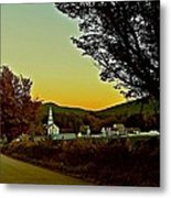 Tamworth Village At Sunset 2 Metal Print