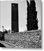 Tarquinia Muro Di Cinta Cipressi Torre Lampione Metal Print