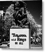 Tarragona Als Herois De 1811 Sculpture On Rambla Nova Avenue In Central Tarragona Catalonia Spain Metal Print