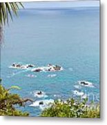 Tasman Sea At West Coast Of South Island Of New Zealand Metal Print