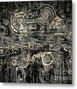 Technically Electronic Background Metal Print
