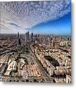 Tel Aviv Skyline Metal Print