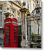 Telephone Box In London Metal Print