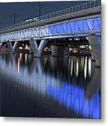 Tempe Light Rail Bridge Metal Print