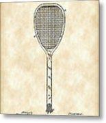 Tennis Racket Patent 1887 - Vintage Metal Print