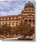 Texas A And M Academic Plaza - College Station Texas Metal Print