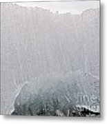 Texture Of Disintegrating Candelized Melting Ice Metal Print