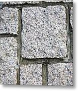 Texture Of Small Stone Structure Road  Metal Print