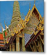 Thai-khmer Pagoda At Grand Palace Of Thailand In Bangkok Metal Print
