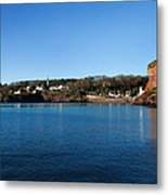 Thatched Cottages, Dunmore Strand Metal Print
