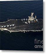 The Aircraft Carrier Uss John C Metal Print
