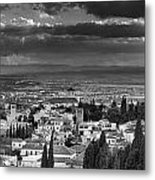 The Alhambra And Albaycin In Granada Metal Print