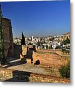 The Alhambra Palace Cubo Tower Metal Print
