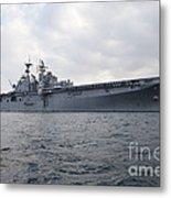 The Amphibious Assault Ship Uss Metal Print