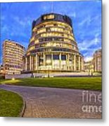 The Beehive Wellington New Zealand Metal Print