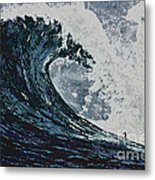 The Blue Crush Metal Print