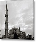The Blue Mosque Metal Print