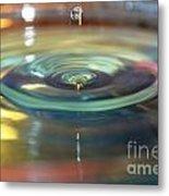 The Blue Vortex Metal Print by Aqil Jannaty