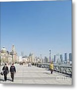 The Bund In Shanghai China Metal Print