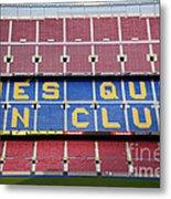 The Camp Nou Stadium In Barcelona Metal Print