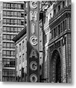The Chicago Theatre Metal Print