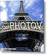 The Eiffel Tower - Paris - France Metal Print