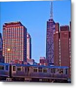 The El In Chicago  Metal Print
