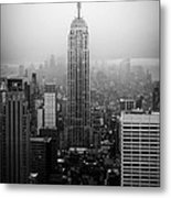 The Empire State Building In New York City Metal Print