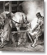 The Farrier, From Etudes De Cheveaux Metal Print