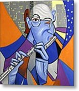 The Flutist Metal Print
