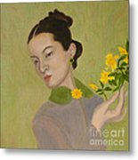 The Golden Kiss Of Spring Metal Print