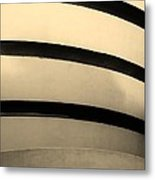 The Guggenheim In Sepia Metal Print