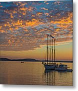 The Harbor At Sunrise Metal Print
